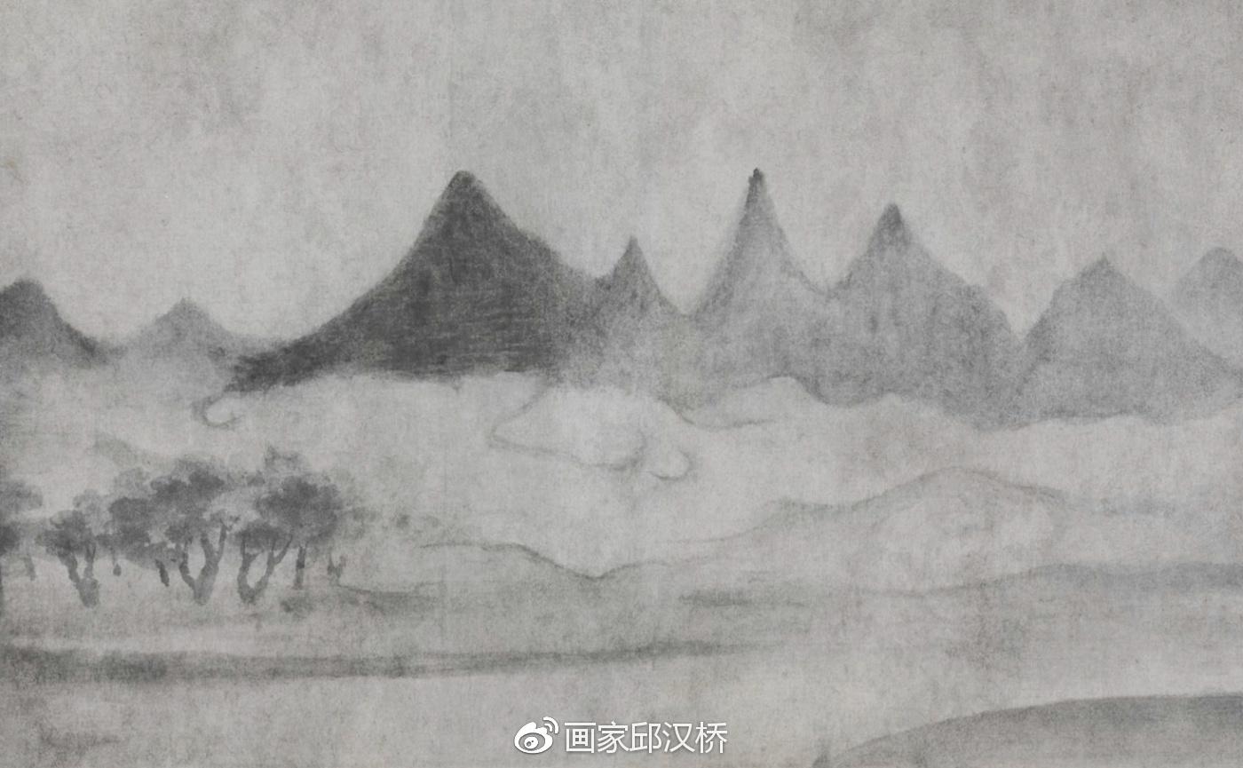 """汉桥话画:从米友仁《潇湘奇观图》观""""米家山水""""风貌"""