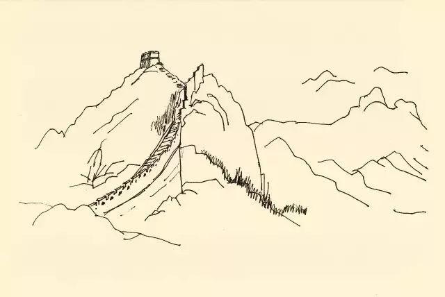 北京八达岭长城(罗哲文手绘)