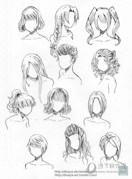 女生漫画头发100种画法 画头发步骤分享
