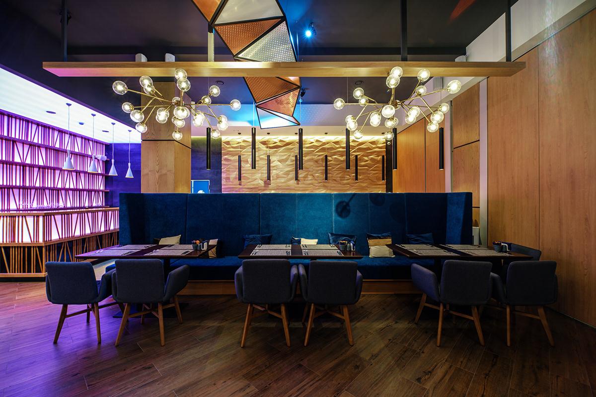 餐厅设计丨浮动旋转,金属色的北方