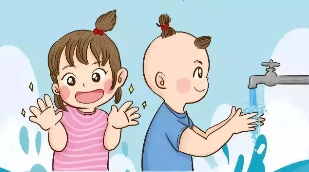 幼儿擦手步骤图动画