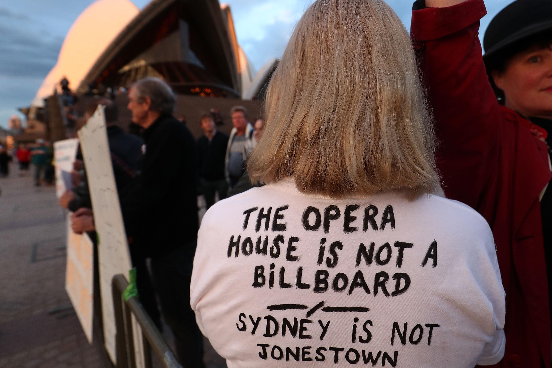 """悉尼歌剧院变身""""赌博广告牌""""澳洲人集体怒了_快乐10分破解如何"""