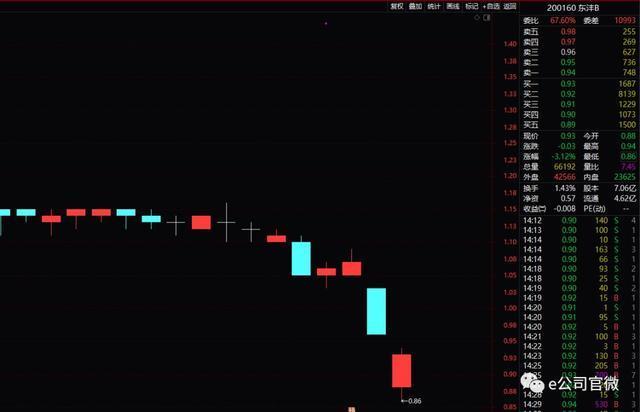 中弘股份之外,这只B股也危险了!连续12日收盘价低于1元,年内股价暴跌6