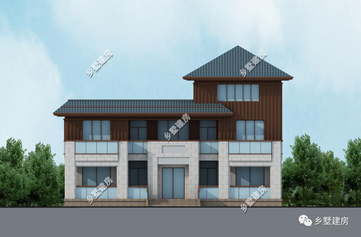 这样的三层别墅民房,建在大气一片户型中间,特别鹤立鸡群!独栋图别墅村里300平方图片