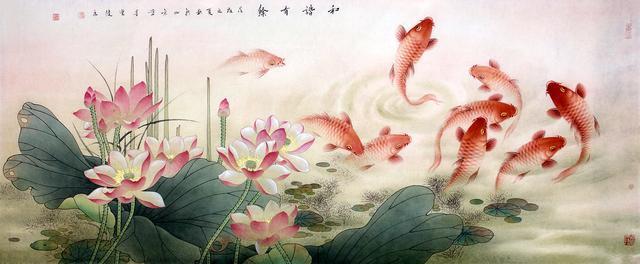 中国锦鲤!画家笔下的锦鲤才是真锦鲤