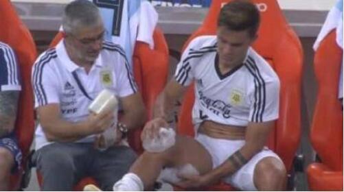 迪巴拉热身赛膝盖受伤下场 需返回尤文确定伤情