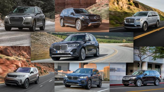 2019款宝马X7与多款豪华SUV规格对比
