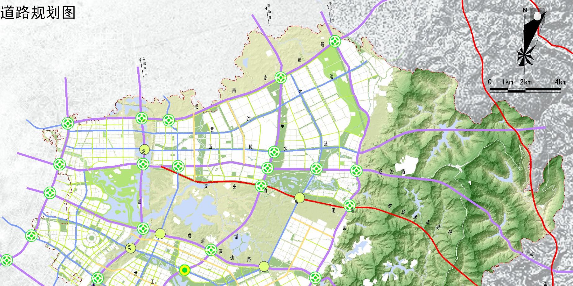成都市龙泉驿区综合交通规划图 2017版与2015版新旧对比