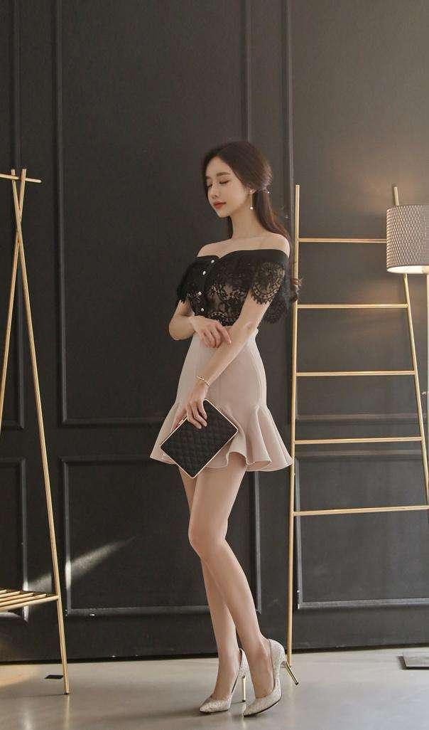 丝袜高跟射狼_气质穿搭, 蕾丝配短裙, 高跟配丝袜, 气质甜美又百搭!