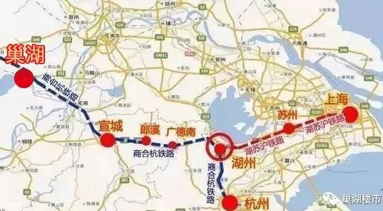 湖苏沪高铁线路起自上海市虹桥站,途经江苏省苏州市,终至浙江省湖州