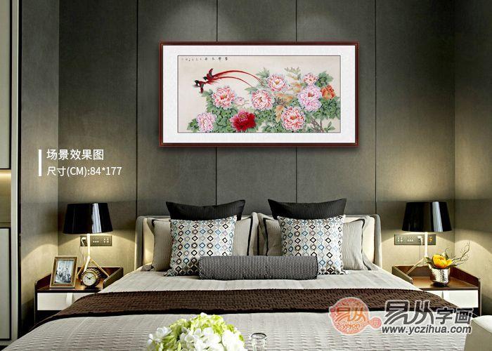 卧室挂画精选,不同的牡丹画代表不同的含义