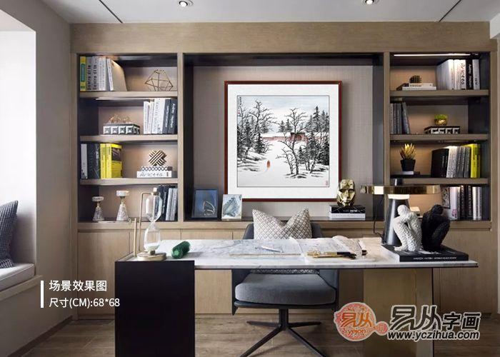 书房挂画的最佳选择,如何打造中国风书屋?