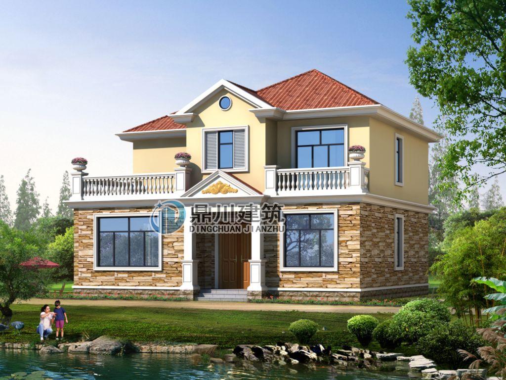 12米×10米农村二层别墅,5室3厅带大露台,造价25万!