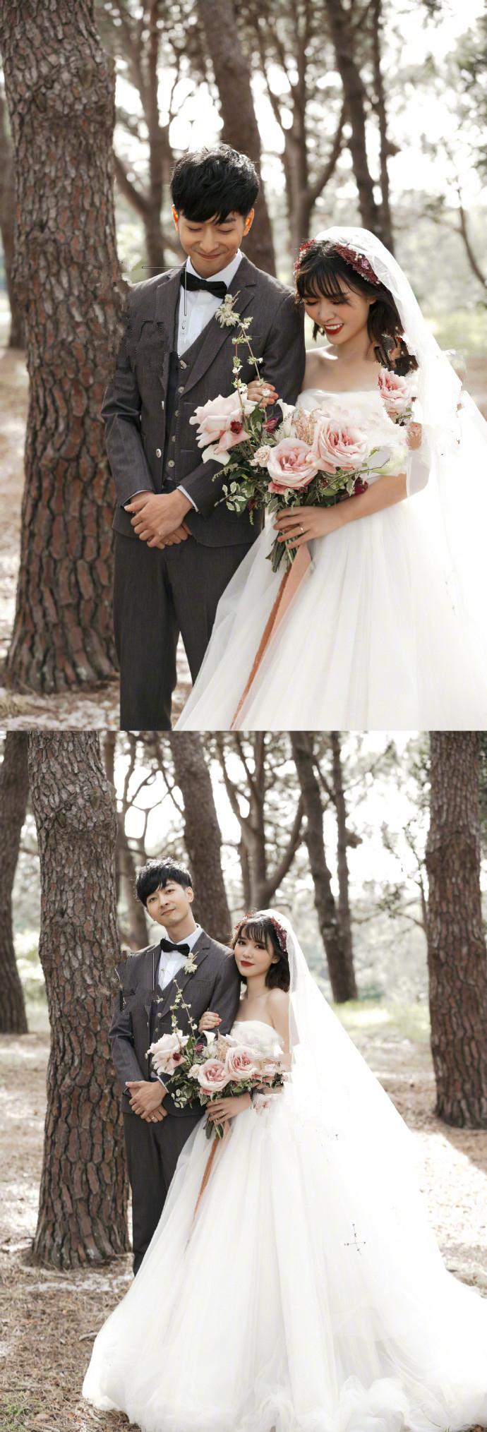 快男左立宣布结婚,两人幸福婚纱大片放出,八年爱情长跑全网祝福