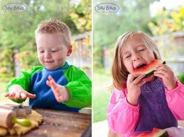 开团集宝宝吃饭防水罩衣游戏衣于一体的sillyillyz罩衣舒适又