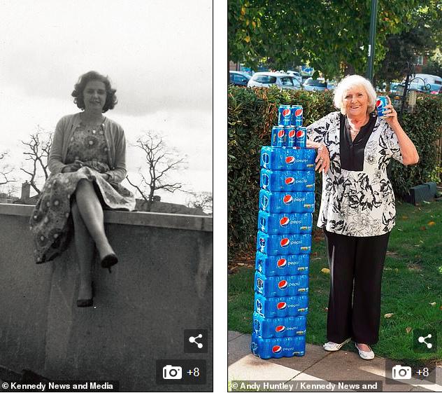 英国77岁奶奶自1954年来每天喝4罐百事可乐,相当于300万块糖