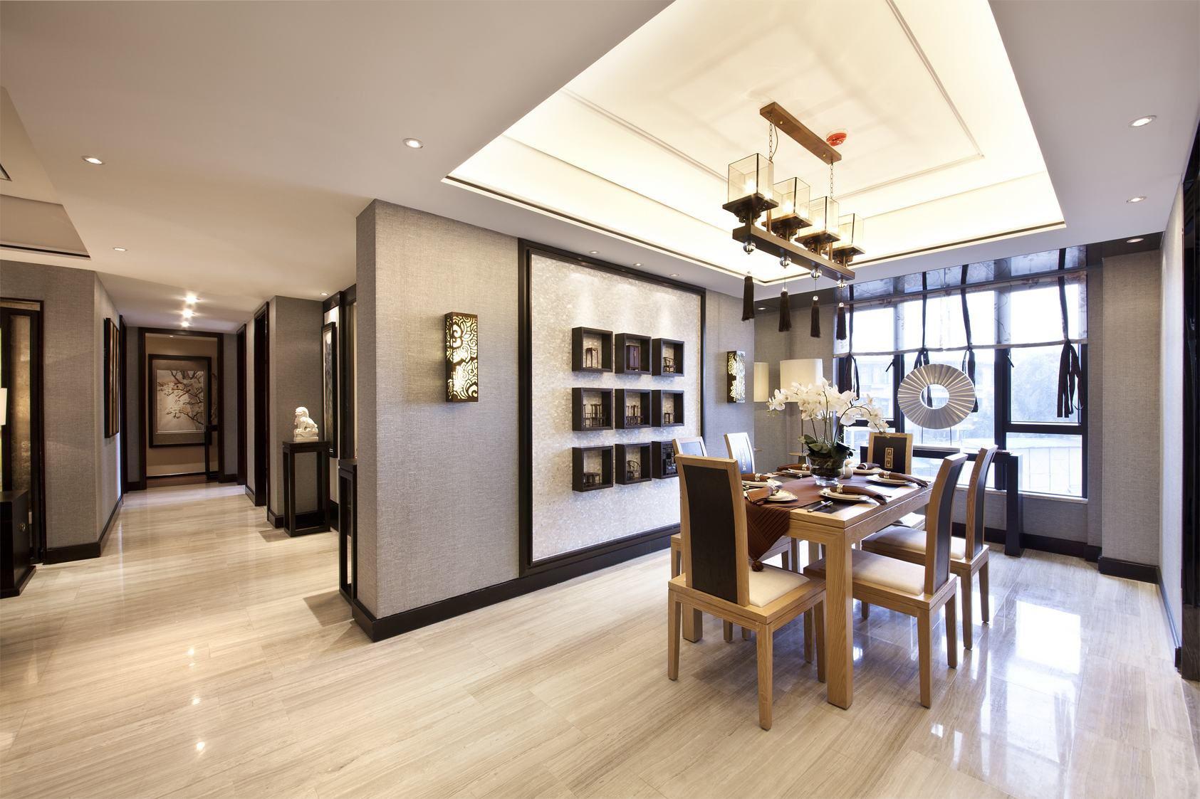 绵阳大气奢华新中式样板房,温馨之家!逸品装饰图片