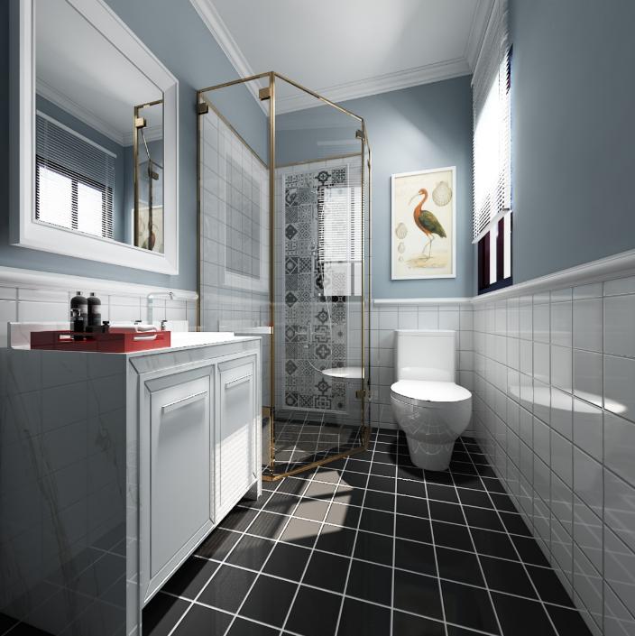 【西安龙发装饰】干湿分离卫生间,玻璃隔断简洁大气,更方便打理。装修咨询:13152133063 小璟