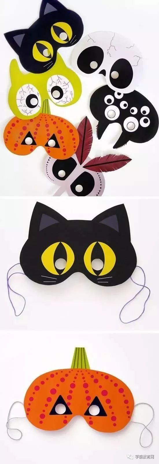 创意手工:万圣节恐怖的怪兽,搞怪的面具,俏皮的帽子,华丽的彩衣图片