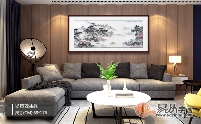 客厅背景墙挂什么画好?美不美还得看是什么画!