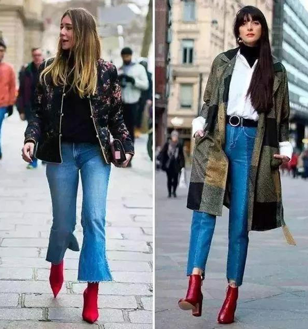 夕猫:红色短靴搭配,让秋冬都时尚起来!