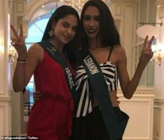 黎巴嫩地球小姐在与以色列地球小姐合影留念后被剥夺了头衔