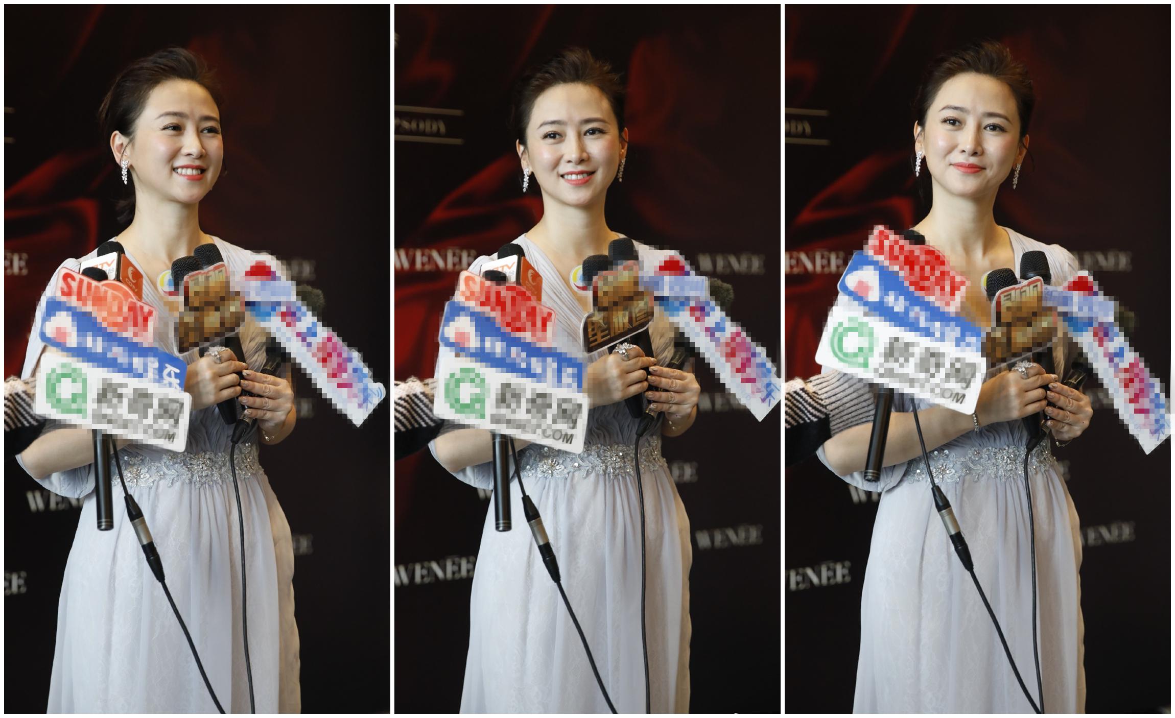 50歲翁虹T臺走秀,穿抹胸長裙唯美飄逸,竟然比20歲小姑娘還嫩