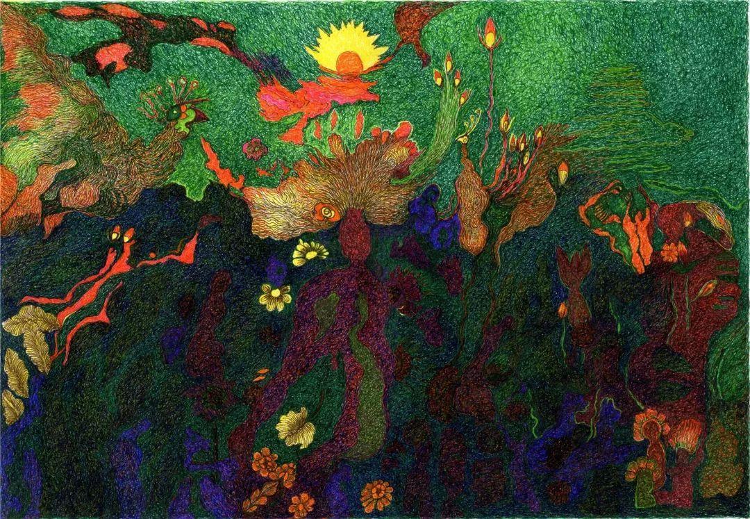 《万物生》 26x37.5 —纸本彩色针管笔手绘