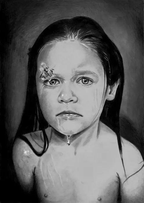 """3岁开始画画,没有双手坚持20年,荣获""""全球最佳艺术家"""""""