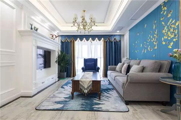 蓝色系简美风装修360°无死角,阳台小花园格外迷人