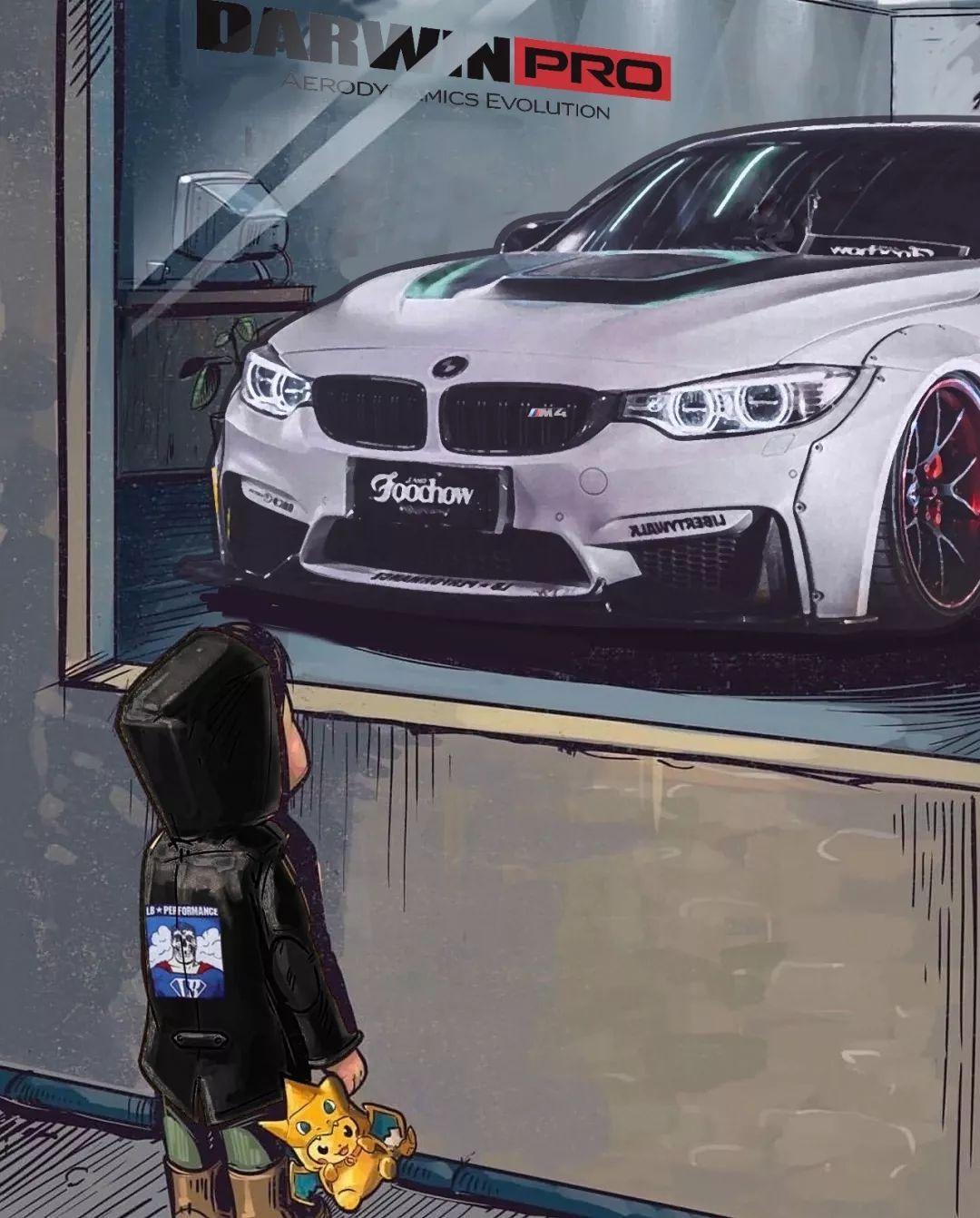 橱窗外的小孩,汽车手绘第二期无水印(含第一期高清无码图)图片