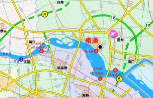 规划图显示,南通另将新增3条高速,分别是: 南通绕城高速,通州湾-南通