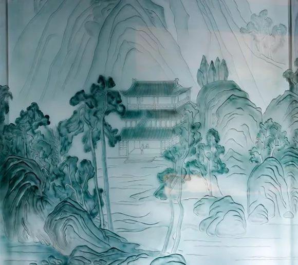 题景园林手绘钢笔画