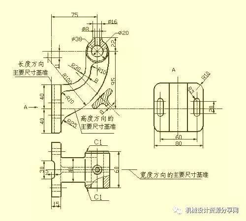 cad,proe,sw机械制图之零件图的尺寸标注法