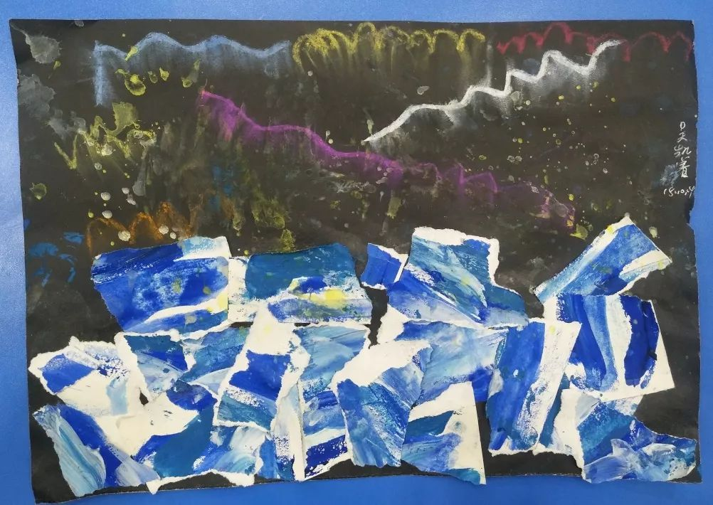 幼儿园黑色卡纸儿童画_适合3-5岁小盆友的美术启蒙儿童画教程来啦!_极光