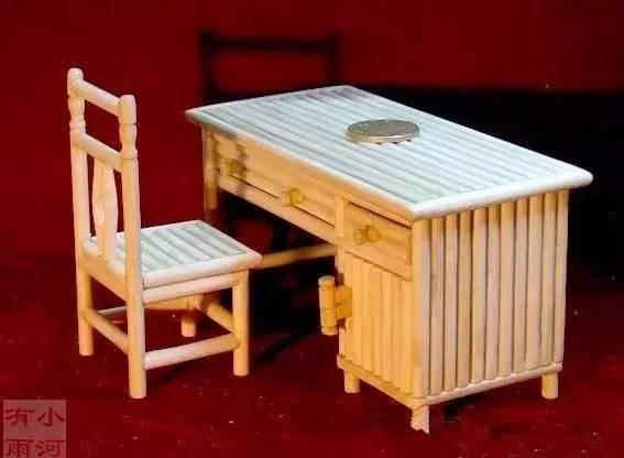 如果嫌房屋或凉亭模型太难,也许可以试试下面这个简单的扶手椅模型diy图片