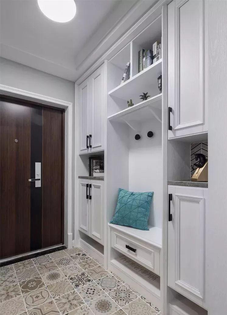 玄关鞋柜这样设计,你家还能多放30双鞋图片