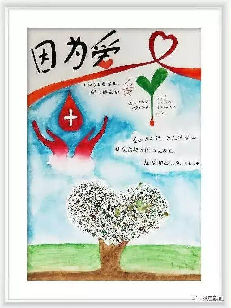 """""""因为.爱""""手绘报获奖作品(初中组)"""