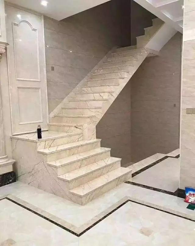 楼梯用大理石怎么挑选?百款案例供参考