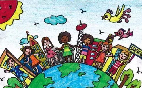 少年儿童的绘画作品有哪些图片