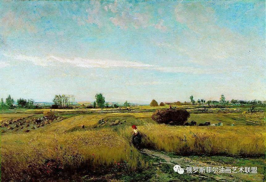法国巴比松派风景画家夏尔·弗朗索瓦·多比尼风景油画欣赏