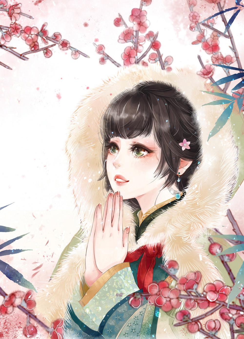 古风唯美手绘画,气质高雅,神采奕奕的古风美人!