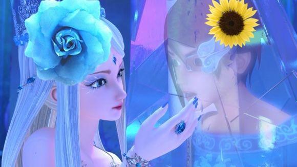 叶罗丽中仙子们佩戴上花朵之后,王默贼可爱,冰公主贼好看图片