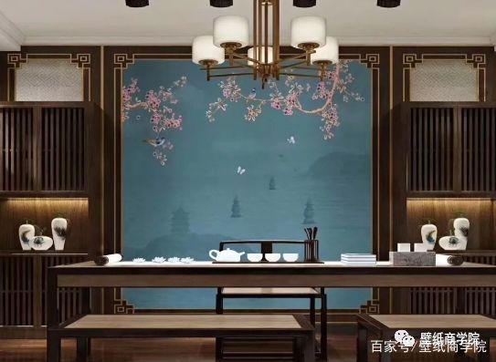书房欧式手绘墙布