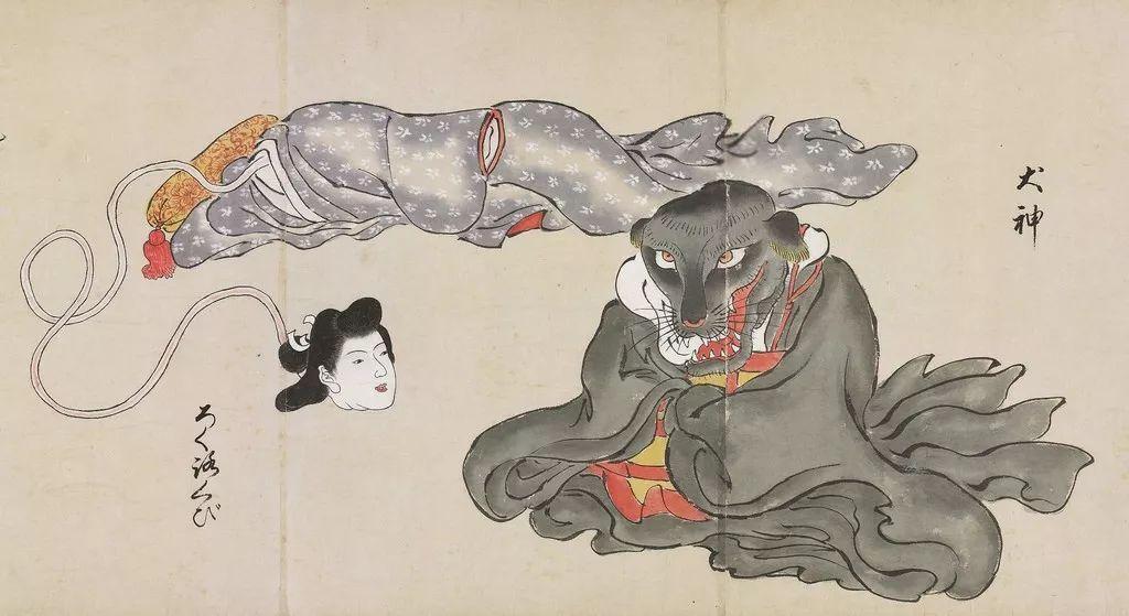 日本女人bi_长颈女人就是辘轳首(rokurokubi),旁边的是犬神(inugami)