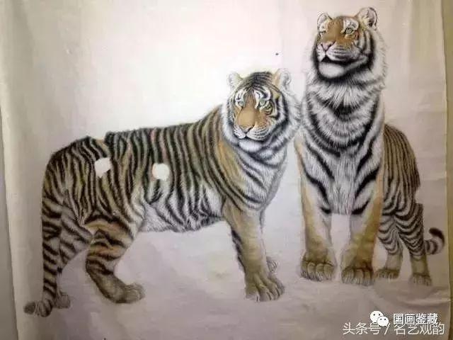 工笔画白描的过程高清技巧(附绘画老虎虎60幅)道歉技法图片