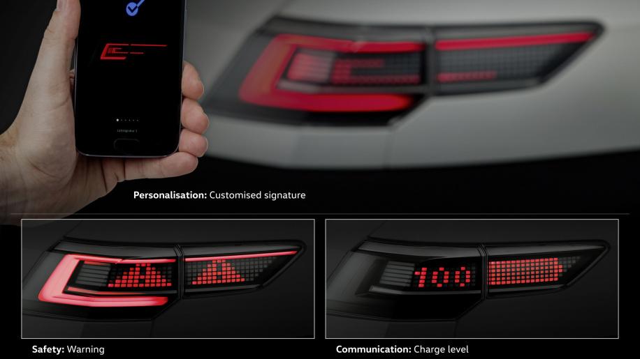 大众汽车展示了未来的大灯、尾灯将如何与我们沟通