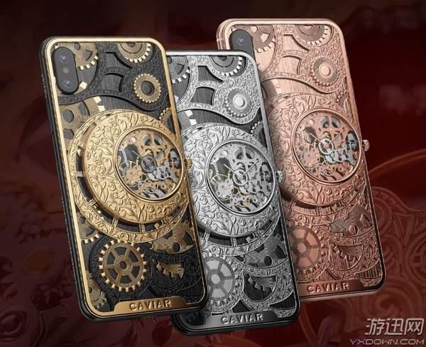俄罗斯iPhone XS奢侈版开卖:真钛合金机械表加持