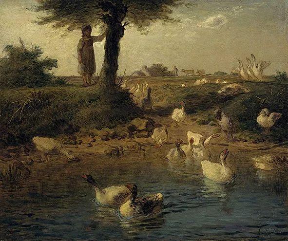 展览中柯罗,杜比尼,米勒笔下的风景,都在真实质朴中更显深刻的社会