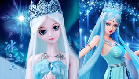 叶罗丽:5位仙子的真人对比娃娃照,冰公主冷艳,灵公主最美!图片